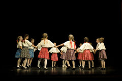 Young Hungarian Folk Dancers Royalty Free Stock Images
