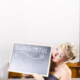 Lunch time menu Royalty Free Stock Photos