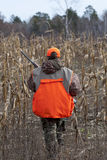 Young Hunter. A young hunter in a cornfield hunting in Minnesota Royalty Free Stock Images