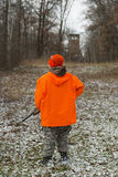 Young Hunter. A young deer hunter in Minnesota Royalty Free Stock Photography