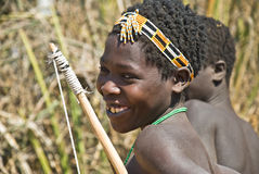 Young hunter from Hadza tribe Stock Photo
