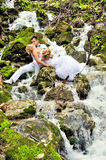Young husband and wife. A young husband and wife, in the nature stock photography