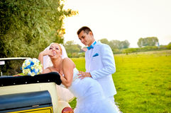 Young husband and wife Royalty Free Stock Image