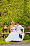 Young husband and wife. A young husband and wife, in the nature Stock Photo