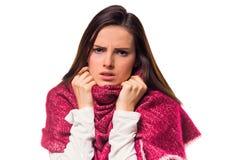 Young illness woman Stock Photo