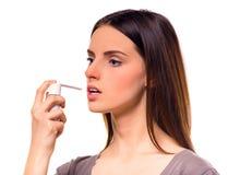 Young illness woman Stock Photos