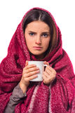 Young illness woman Stock Photography