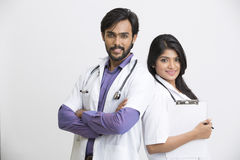 Young Indian attractive doctors Royalty Free Stock Image