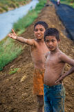 Young Indian boys in field Stock Images