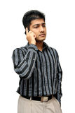 Young Indian business man using cellphone Stock Photography