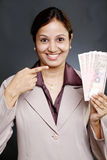 Young Indian business woman Stock Photo