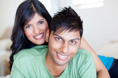 Young indian couple. Lovely young indian couple portrait Stock Image