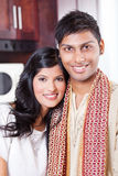 Young indian couple. Beautiful young indian couple portrait in traditional clothing Royalty Free Stock Photos