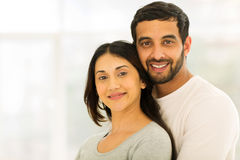 Young indian couple hugging Royalty Free Stock Photo
