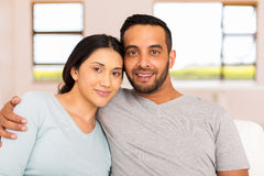 Young indian couple relaxing royalty free stock photos