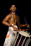 Young Indian drummer Royalty Free Stock Image