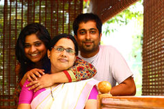 Young Indian Family - Mother, Daughter And Son Stock Photos
