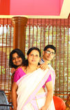 Young Indian Family - Mother, Daughter and Son. Portrait of Young Indian Family - Mother, Daughter and Son Stock Photo