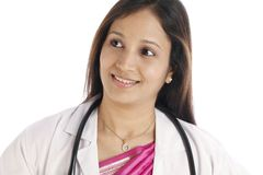 Young Indian female doctor Stock Images