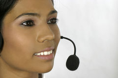 Young Indian female helpdesk operator Royalty Free Stock Images