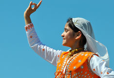 Young Indian Girl Dancing Royalty Free Stock Photo