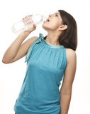 Young indian girl drinking water Stock Image