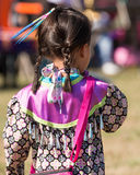 Young Native American girl. Young Indian Girl at Powwow. Portrait of innocence and beauty stock photos