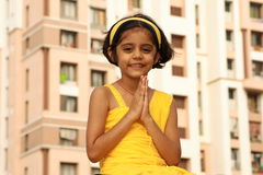 Young Indian girl praying Stock Photography