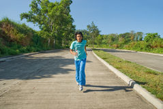 Young Indian jogger Royalty Free Stock Images