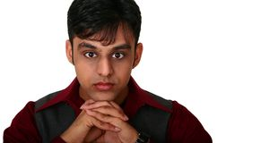 Young Indian Man Thinking Royalty Free Stock Images