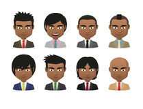 Young indian men wearing suit avatar set Stock Image