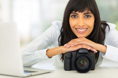 Young indian photographer Stock Photo