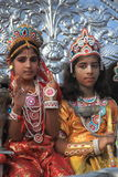 Young Indian Ram-Sita Devotees. royalty free stock photos