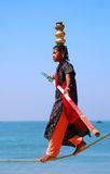 Young Indian Ropewalker Royalty Free Stock Photo