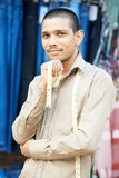 Young indian tailor man Royalty Free Stock Photo