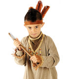 Young Indian with Tomahawk Stock Image