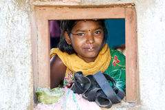 Young indian tribal woman Stock Photo