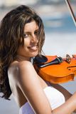Young indian violin player Stock Image