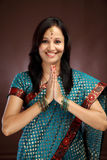 Young Indian woman greeting Royalty Free Stock Photo