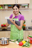 Young Indian woman using a tablet Stock Photo