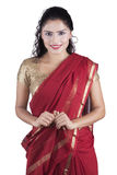 Young indian woman wearing traditional dress Stock Images