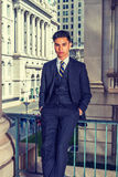 Young Indonesian American Businessman in New York Royalty Free Stock Photography