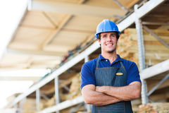 Young industrial worker. With arms crossed Stock Photography