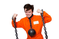 Young inmate with chains Stock Photos
