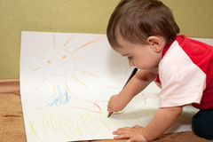 Young inspired artist Royalty Free Stock Photography