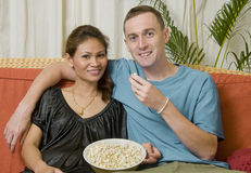 Young interacial couple Stock Photos