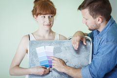Young interior decorator Royalty Free Stock Photo