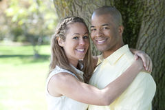 Young Interracial couple Royalty Free Stock Images