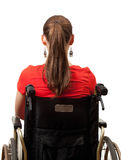 Young invalid woman on the wheelchair Stock Photography