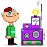 Young inventor Stock Photography